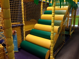 replaced green and yellow logs on soft play area