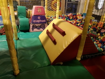 replaced ball pit ramp in children's play area