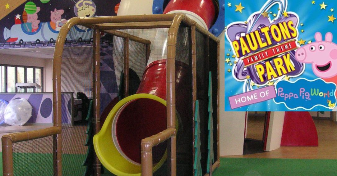 George's Spaceship indoor play zone at Paultons Park's Peppa Pig World